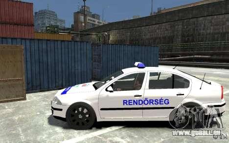 Skoda Octavia 2005 Hungarian Police pour GTA 4 est une gauche