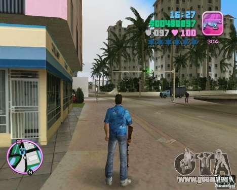 La peau de la version bêta GTA Vice City pour la deuxième capture d'écran