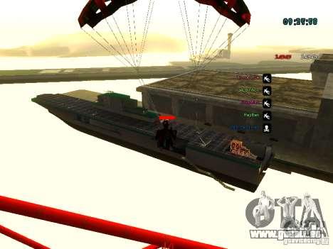 Sac à dos-parachute pour GTA: SA pour GTA San Andreas septième écran