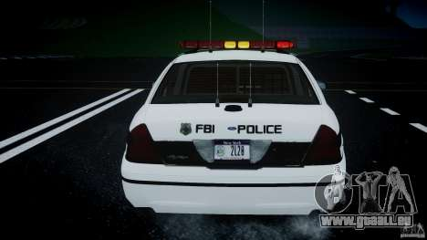Ford Crown Victoria 2003 FBI Police V2.0 [ELS] für GTA 4