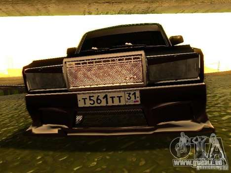 VAZ 2107 X-Style pour GTA San Andreas vue intérieure
