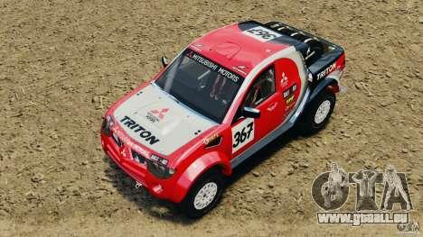 Mitsubishi L200 Triton pour GTA 4 Vue arrière