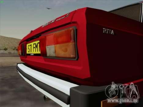 LADA 2105 RIVA (exportation) 2.0 pour GTA San Andreas vue intérieure