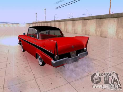 Plymouth Belvedere Sport Sedan 1957 für GTA San Andreas Rückansicht