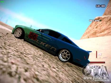 Ford Shelby GT500 Falken Tire Justin Pawlak 2012 pour GTA San Andreas sur la vue arrière gauche