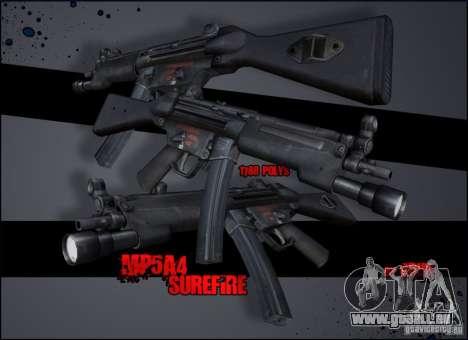 MP5A4 Surefire für GTA San Andreas zweiten Screenshot