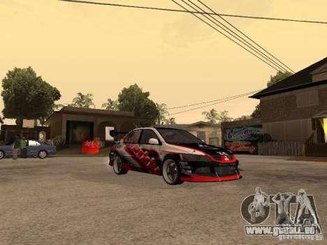 Mitsubishi Lancer Evolution 8 GReddy pour GTA San Andreas vue de droite