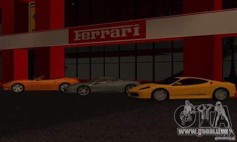 Nouveau Showroom de Ferrari à San Fierro pour GTA San Andreas deuxième écran