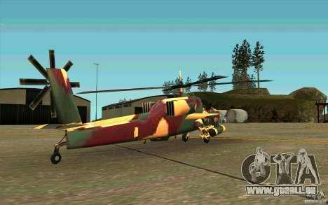 Hunter Armee Look für GTA San Andreas rechten Ansicht