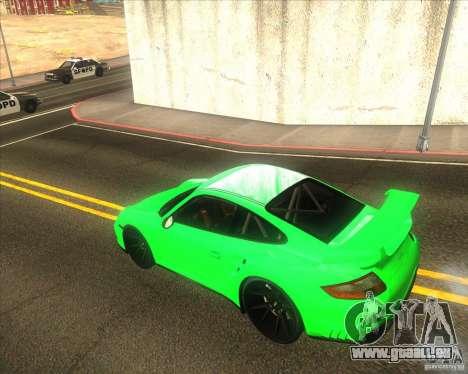 Porsche 911 GT2 (997) black edition pour GTA San Andreas vue de droite