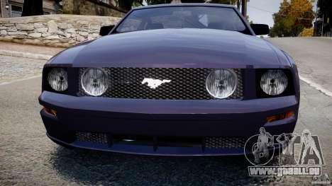 Ford Mustang pour GTA 4 Vue arrière
