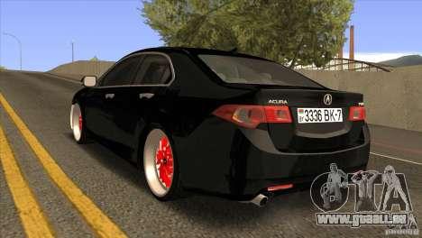 Acura TSX Doxy pour GTA San Andreas sur la vue arrière gauche