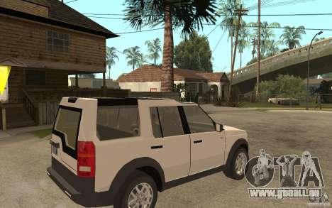 Land Rover Discovery 3 V8 für GTA San Andreas rechten Ansicht