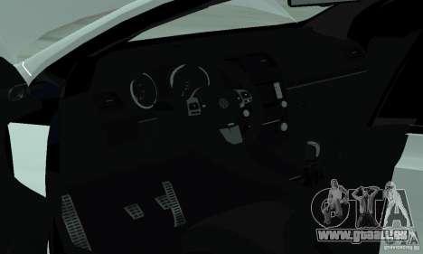 Volkswagen Golf R Modifiye pour GTA San Andreas vue intérieure