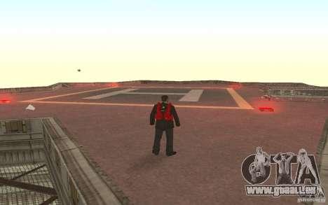Global fashion parachute pour GTA San Andreas troisième écran