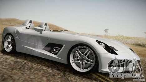 Mercedes-Benz SLR Stirling Moss 2005 pour GTA San Andreas vue de dessous