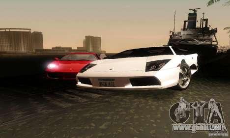 Lamborghini Murcielago für GTA San Andreas Rückansicht