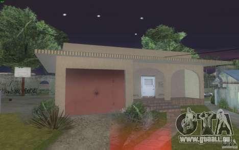 Quatre maisons neuves Grove Street pour GTA San Andreas deuxième écran