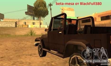 Mesa From Beta Version für GTA San Andreas linke Ansicht