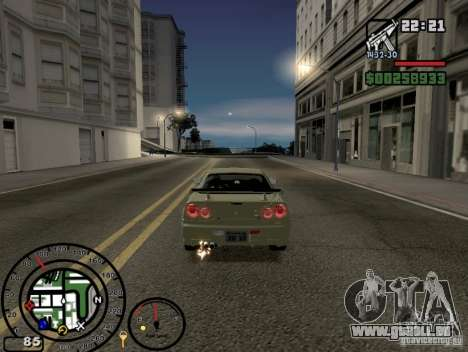 Le feu de la v2.0 de gaz d'échappement pour GTA San Andreas troisième écran