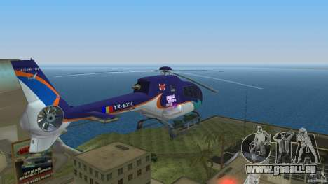 Eurocopter Ec-120 Colibri für GTA Vice City Innenansicht