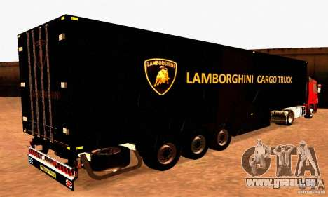 Lamborghini Cargo Truck pour GTA San Andreas laissé vue