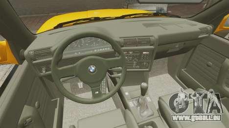 BMW M3 E30 v2.0 pour GTA 4 vue de dessus
