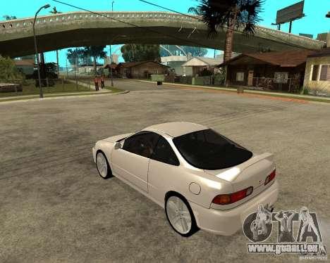 Honda Integra 1996 pour GTA San Andreas laissé vue