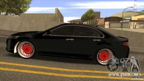 Acura TSX Doxy pour GTA San Andreas laissé vue