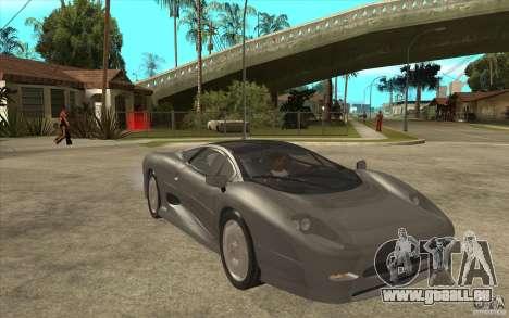 Jaguar XJ 220 für GTA San Andreas Rückansicht