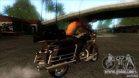 Harley Davidson pour GTA San Andreas vue de droite