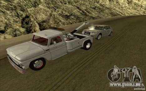 Chevrolet dépanneuse pour GTA San Andreas laissé vue