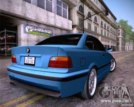 BMW M3 E36 1995 pour GTA San Andreas laissé vue