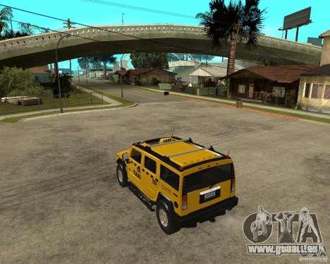 AMG H2 HUMMER TAXI pour GTA San Andreas laissé vue
