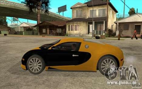 Bugatti Veyron v1.0 pour GTA San Andreas laissé vue