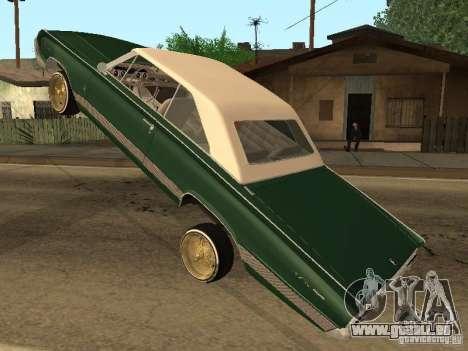 Mercury Park Lane Lowrider pour GTA San Andreas vue arrière