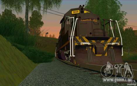 Clinchfield sd40 für GTA San Andreas rechten Ansicht