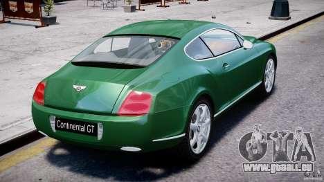 Bentley Continental GT für GTA 4 Unteransicht