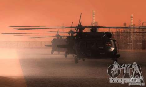 UH-60M Black Hawk pour GTA San Andreas vue de dessus
