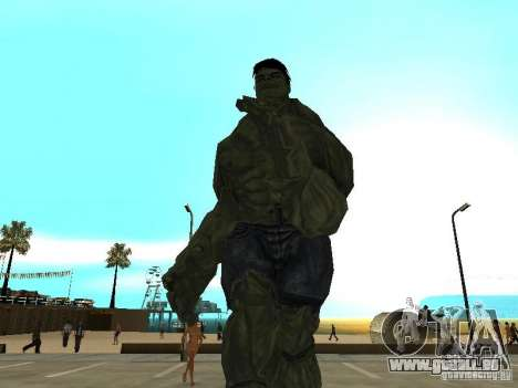 Hulk Skin pour GTA San Andreas deuxième écran