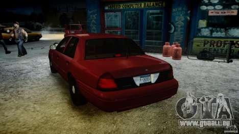Ford Crown Victoria Detective v4.7 red lights pour GTA 4 est une vue de dessous