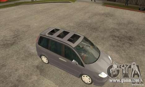 Citroen C8 für GTA San Andreas Rückansicht
