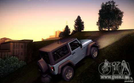 Jeep Wrangler Rubicon 2012 für GTA San Andreas linke Ansicht