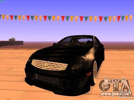 Infiniti G35 V.I.P für GTA San Andreas
