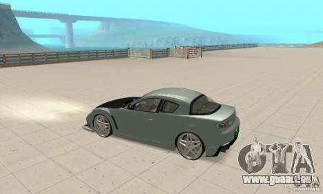 Mazda RX-8 Tuning pour GTA San Andreas vue intérieure