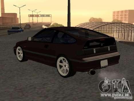 Honda Civic CRX JDM pour GTA San Andreas vue arrière
