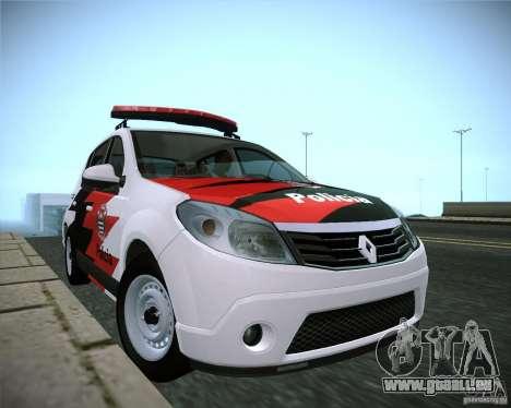 Renault Sandero Policia für GTA San Andreas