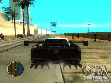 Lexus LFA pour GTA San Andreas sur la vue arrière gauche