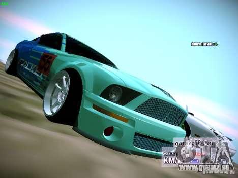 Ford Shelby GT500 Falken Tire Justin Pawlak 2012 pour GTA San Andreas vue de droite