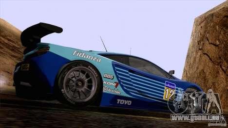 Peinture fonctionne McLaren MP4-12 c Speedhunter pour GTA San Andreas laissé vue